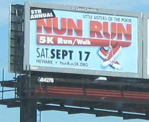 Nun Run billboard
