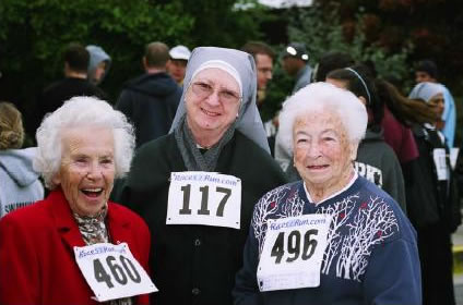 Nun Run race photo