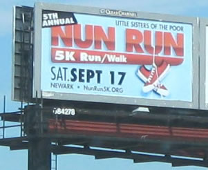 Nun Run billboard